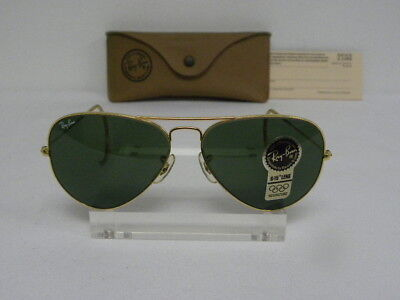 60427e10ebc16 New Vintage B L Ray Ban Large Metal Arista Gold G-15 58mm Cable Wrap Aviator