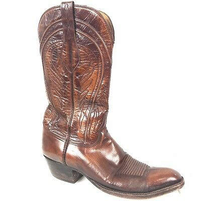 f770134b091 LUCCHESE MEN'S HANDMADE Classics Cowboy Boots Size 12AA Seville Cord Top  GOAT