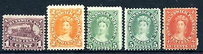 Weeda New Brunswick 6-9 Mint/unused 1860 Colonial issues CV $95
