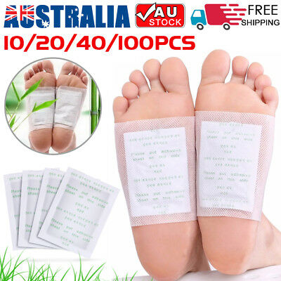 10-300PCS Detox Kinoki Foot Patch Pad Natural plant Herbal Toxin Removal Weight