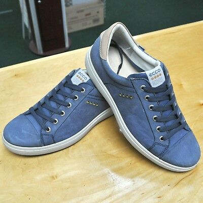 New Ecco Mens Golf Casual 41 7 7.5 8 Spikeless 152004-01086 Denim Blue Golf 045686a2e6c