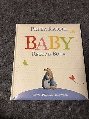M&S Peter Rabbit baby record book - Brand New
