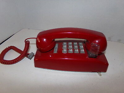 Vintage Bell Systems Red Touch Tone Wall Phone SHIPS FREE!