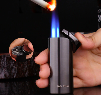 Luxury Windproof Triple Jet Flame Lighter Refillable Butane Torch Cigar Lighter
