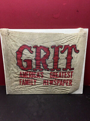 """GRIT - """"Americas Family Newspaper"""" Canvas Delivery Bag"""