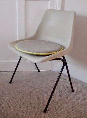 Original 1960's Mid Century Robin Day Polyside Grey Stacking Dining Office Chair