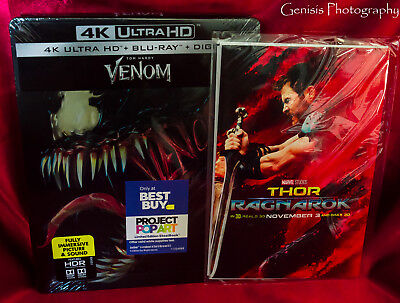 Venom steelbook (4K UHD/Blu-Ray/Digital)  Best Buy limited edition + Art Cards