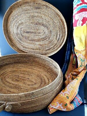 Old Papua New Guinea Solomon Islands Buka Basket …beautiful collection / accent