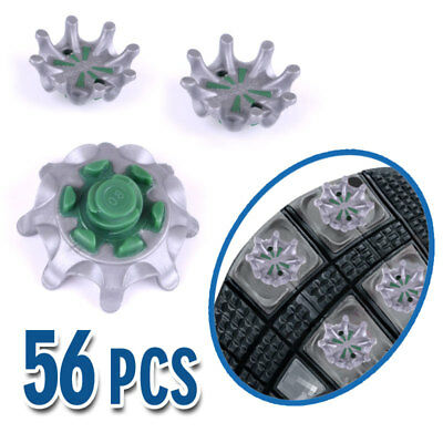 Golf Shoe Spikes Fast Twist Cleats Spikes Replacement Green & Grey For Footjoy