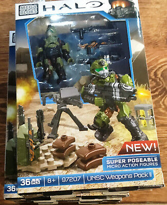 Mega Bloks HALO ULTRA RARE VERSION V  #97207V - UNSC Weapons Pack II VHTF BNIB