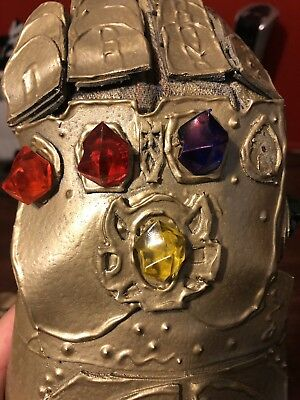 INFINITY STONES GEMS SET GAUNTLET COSPLAY GLOVE PROP avengers war thanos marvel