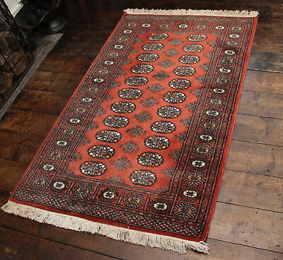 A Good Vintage Bokhara Pure Wool Country House Rug 152 x 94