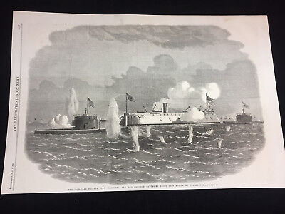 1863, May 9Th,the Illustrated London News Page 517,ironside,civil War Sea Battle