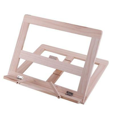 Adjustable Wooden Book Stand Cook Book Display Folding Holder 25*31CM Fine □