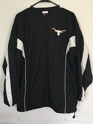 Rawlings Texas Long Horns NCAA  Men's Large Pullover Jacket Vented