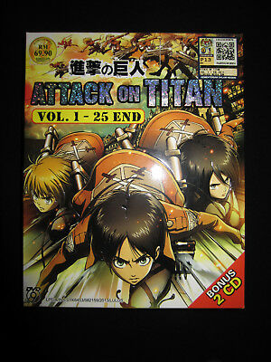 Attack on Titan DVD Chapters 1-25, Soundtrack included!