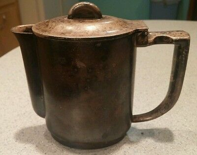 Austrian alpaca Berndorf vtg hinged lid small coffee pot