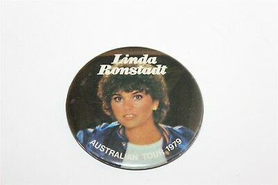 Vintage Linda Ronstadt Australian Tour 1979 Badge Music Collectable