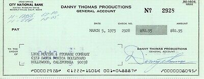 Danny Thomas Signed Cancelled Personal Check Jsa Coa St. Jude Hospital Founder