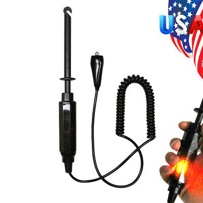 Copper Wire Car Truck Circuit Tester 6/12/24V Test Pencil Light Hook Probe *DY12
