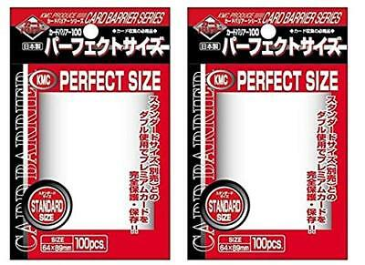 KMC Perfect Size Card Sleeves Barrier STANDARD SIZE 64x89mm 100pcs x 2 set Japan