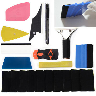 8 in 1 Car Window Tint Tools Kit for Vinyl Film Tinting Squeegee Multicolor UK