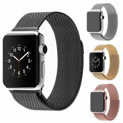 For Apple Watch Series 4/3/2/1 Milanese Magnet Stainless Steel iWatch Strap Band