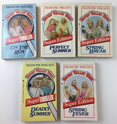 Lot Of 5 Sweet Valley High 5 Sweet Valley University Vintage Books