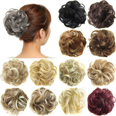 Synthetic Hair Flexible Scrunchie Cover Wrap For Wave Curly Hair Bun Ponytails