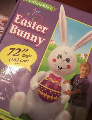 "72"" Inflatable Easter Bunny"