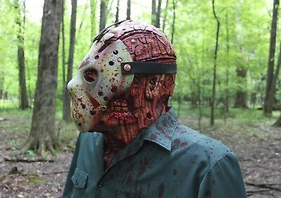 Jason Voorhees Friday the 13th Part 2,3,4,7 Bust Mask Halloween Camp Blood Prop