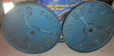 Two Sports Kinetic  45kg/100lbs gym weight. Standard size. Very good condition.
