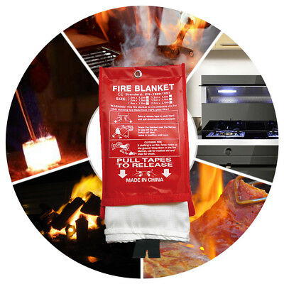 Fire Blanket Emergency Survival Shelter Safety Protector Extinguishers Tent~