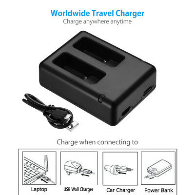 1PC NEW 800mAh AHDBT-501 Battery & USB Dual Charger For GoPro Hero5 Black HERO 6