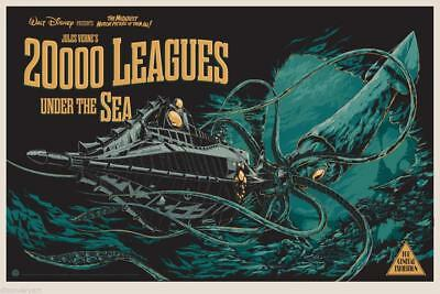 20000 Leagues Under The Sea Movie Art Silk Poster 8x12 24x36 24x43