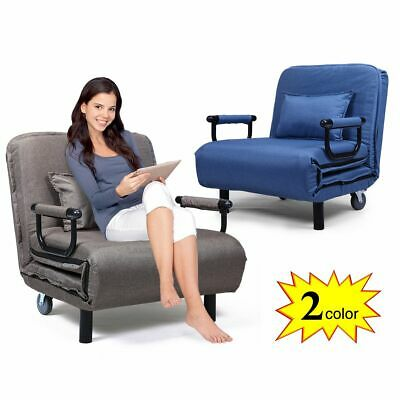 CONVERTIBLE SOFA BED Folding Arm Chair Sleeper Leisure Recliner Lounge Couch