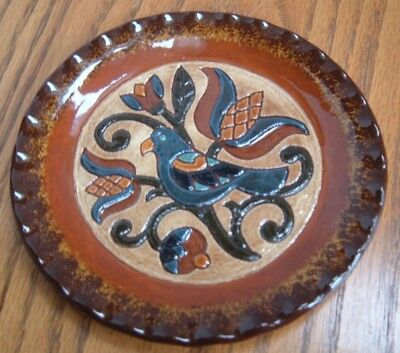 Logan & Yoder Oley Valley Redware Pottery Plate ~ 1991 ~ Thank You For Being You