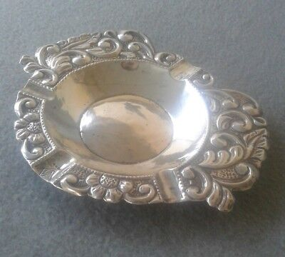 19th Century South American Spanish Colonial 900 Silver Cigar Ashtray