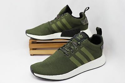 a1eba9d7b NEW MEN S ADIDAS NMD R2 Casual Shoes Green Camo Boost Size 13 B22630 ...