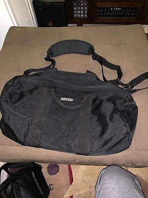 Travel Carrying Duffel Tote Bag LANDS END canvas Ski Snowboard Gear Bag - Black