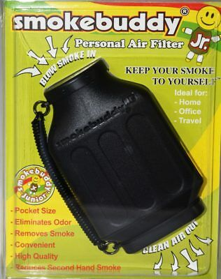 1X Smoke Buddy Junior Jr Personal Air Odor Purifier Cleaner Filter Color BLACK**