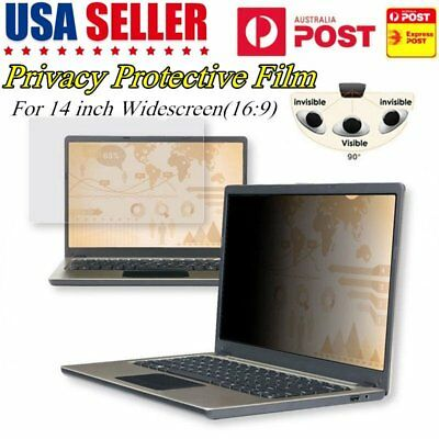 "14""INCH 16:9 Privacy Screen Protector Film Filter For Laptop Monitor/Notebook XB"