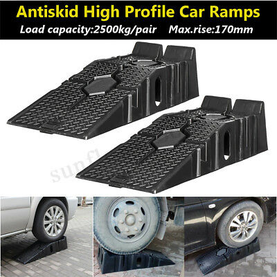 2500kg Heavy Duty Car Ramps Pair High Quality 900mm Long Antiskid Service Ramp