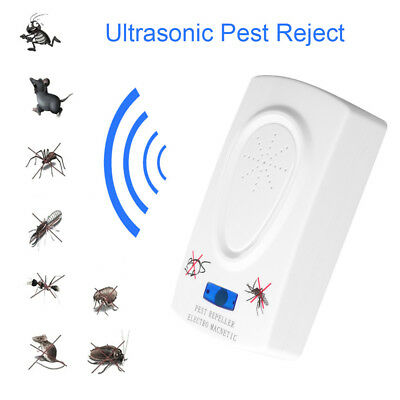 Ultrasound Mouse Cockroach Repeller Device Insect Mosquito Killer Pest Reject~