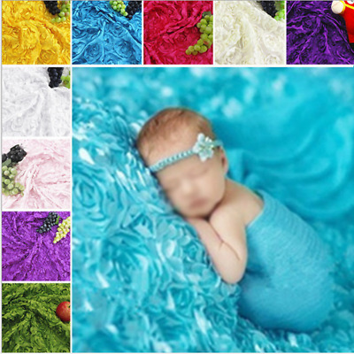 Infant Baby Photography Photo Props Stretch Wrap Knit Baby Swaddle Wrap Blanket