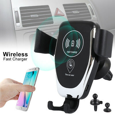 10W QI Wireless Fast Charger Car Mount Holder Stand For iPhone XS Max Samsung US