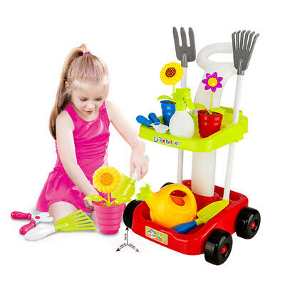 Garden Tool Toy Trolley Toddler Boy Toy Tool Educational Pretend Play Girl Kids