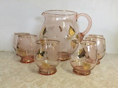 Vintage Water Jug and Glasses