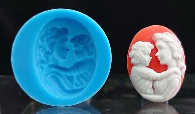 Mother and Child Silicone Cameo mold