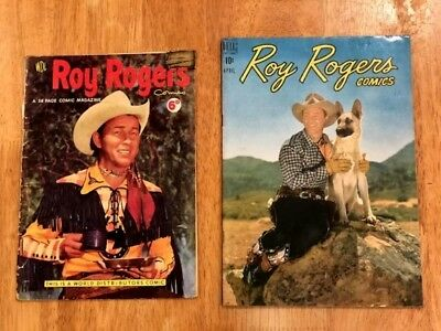 ROY ROGERS COMICS & QUEEN of the WEST DALE EVANS 4 Ish lot! (1949-1955 Dell)